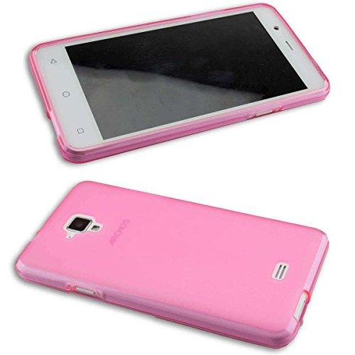 caseroxx TPU-Hülle für Archos 50 Titanium 4G, Tasche (TPU-Hülle in pink)
