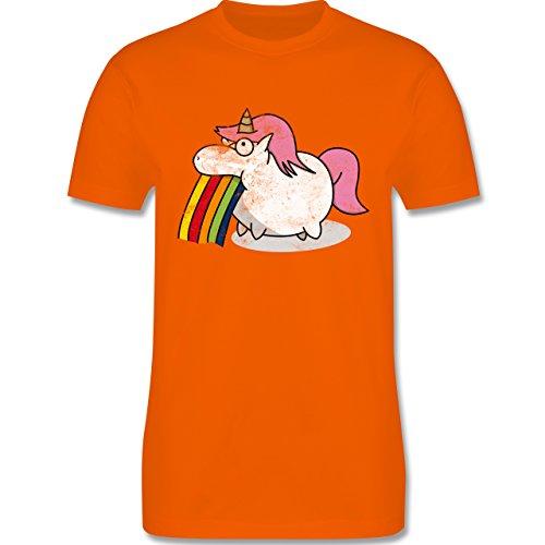 Comic Shirts - Kotzendes Einhorn Vintage - Herren Premium T-Shirt Orange