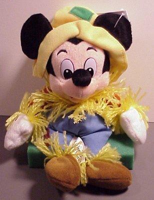 Disney Bean Bag Plush Mickey Mouse Scarecrow by Disney