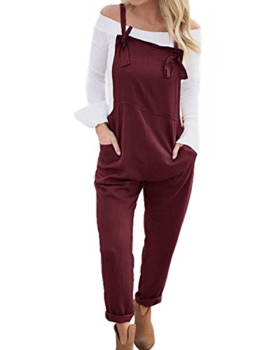 Jacansi Women Casual Sleeveless Jumpsuit Playsuit Trousers Pants Pockets Dungarees UK 6-16