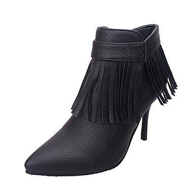 Moda Donna Sandali Sexy donna tacchi autunno / inverno Altri matrimonio cuoio / Party & sera abito / Stiletto Heel fiocco nero / rosso altri Red
