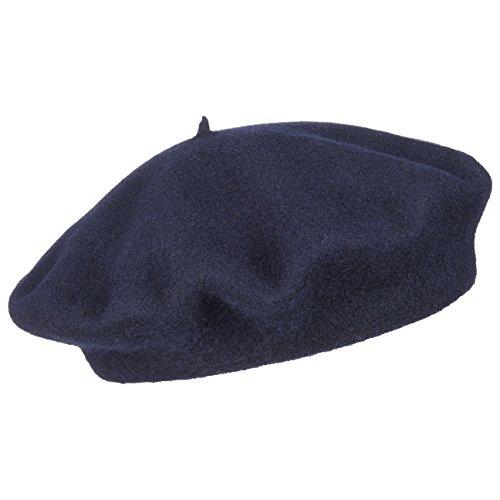 Baskenmütze Barett Wollbaske Baske Baskenmütze Winterbaske (59 cm - blau)