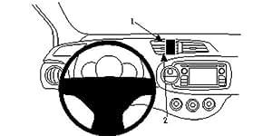 Brodit 854723 Brodit ProClip 854723 Center Mount für Toyota Yaris 12