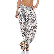 Malito Bombacho con Espiral diseño Boyfriend Aladin Harem Pantalón Sudadera  Baggy Yoga 1718 Mujer ... 1d921821d2e