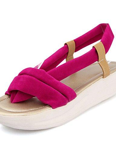 LFNLYX Scarpe Donna-Sandali-Formale / Casual-Plateau / Comoda-Plateau-Finta pelle-Nero / Blu / Giallo / Rosso Red