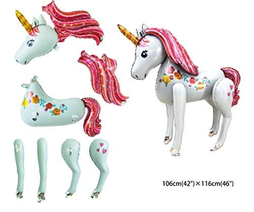 Ánimo Súper Unicornio Grande Modelo De Globo De Decoración Para Fiesta De Navidad Y Fiesta De Cumpleaños TALLA SÚPER GRANDE