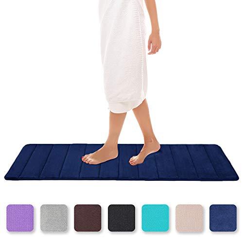 Colorxy Badteppich aus Memory-Schaum, weich und saugfähig, rutschfest, groß, für Küche und Badezimmer 24