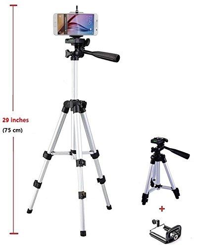 26 zoll Kamera Stativ+Handy Halterung Halter für Samsung Galaxy S6 Edge/S6 S5 S4/A7 A5 A3