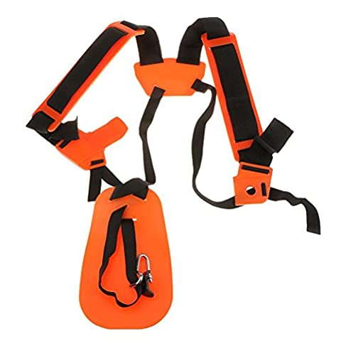 ounona Rasentrimmer Double Shoulder Harness Strap Gepolsterter Gürtel für Pinsel Cutter Trimmer gardden Gartenschere (Pruner Kit)