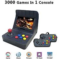 Anbernic Consolas de Juegos Portátil , Consola de Juegos Retro Game Console 4.3 Pulgadas 3000 Juegos TV-Output Videojuegos Portátil - Transparent Negro