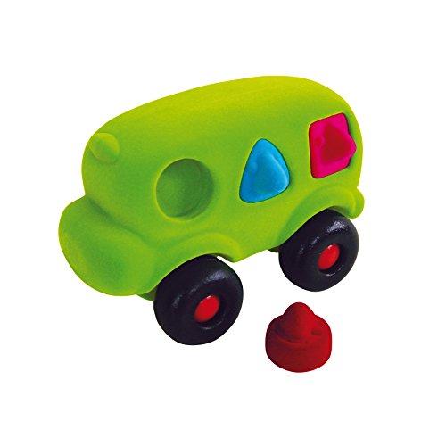 Erzi 20x 12,5x 17cm Naturkautschuk motilitiy Form Bus Deutsche Holz Spielzeug