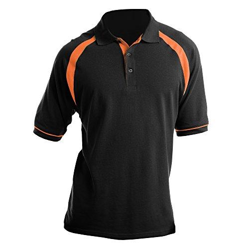 Kustom Kit Oak Hill Herren Polo-Shirt, Kurzarm Marineblau/Weiß