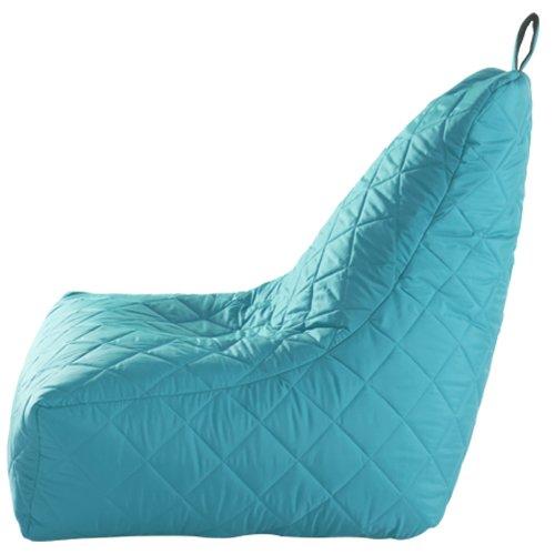 Fun!ture Quilted Bean Bag Gamer Waterproof Gaming Arm Chair Recliner, Aqua Blue
