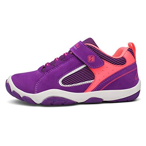 Powtech Turnschuhe Kinder Hallenschuhe Jungen Sportschuhe Mädchen Laufschuhe Sneaker Outdoor für Unisex-Kinder (29 EU, 808-Lila)