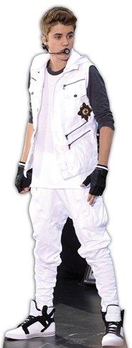 Pappaufsteller Justin Bieber (White Tracksuit) Aufsteller Standup Figur Kinoaufsteller Pappfigur Cardboard Lebensgroß Life-Size Standup