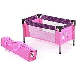 Bayer Chic 2000 65240–Muñecas de cuna de viaje Dots, morado/rosa