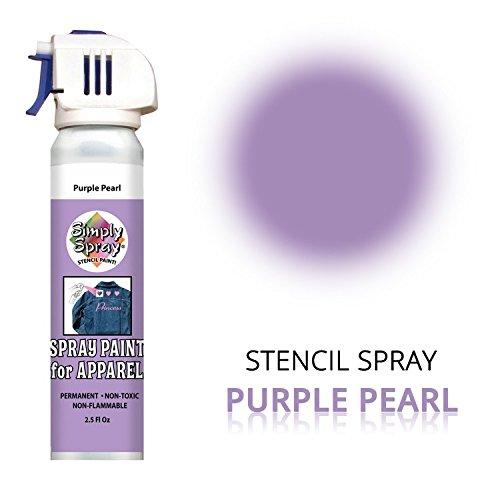 SimplySpray - Stencil Spray Purple Pearl - Schablonenfarbe zum Sprühen - Farbe: Lila - 75 ml - Wasserfest und Abriebfest -