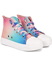 JIANSH Long Shoes for Girls Colourful Sneakers Women Casual Boots Matching Color Shoe Laces All Star High Collection