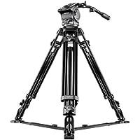 Mantona Dolomit 4000 - Trípode para videocámara (170 cm) (18646)