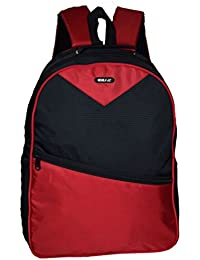 Ideal School 20 Ltrs Red And Black School Backpack