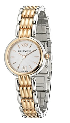 Philip Watch Caribbean r8253491508 – Ladies Watch – Analogue Quartz – Mother of Pearl Dial Pink Steel Strap