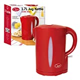 Quest 34430 Fast Boil Cordless Kettle, 2200 W, 1.7 liters, Red