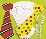 24 Jumbo Design Your Own Ties | Kids Carnival Crafts