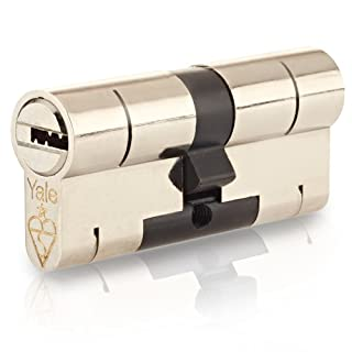45/55 Nickel YALE Superior Euro Cylinder with 3 Keys Anti Snap / Bump / Pick / Drill / Pull High Security uPVC Composite Door Barrel Profile Lock
