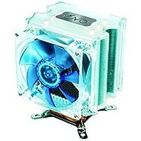 Akasa EVO Blue Heatpipe - Ventilador de PC (Intel LGA 775 AMD Athlon 64 socket 754,939,940 & AM2, Aluminio y cobre, 101,7 x 93,6 x 67,8 mm, 12V, 600 RPM)
