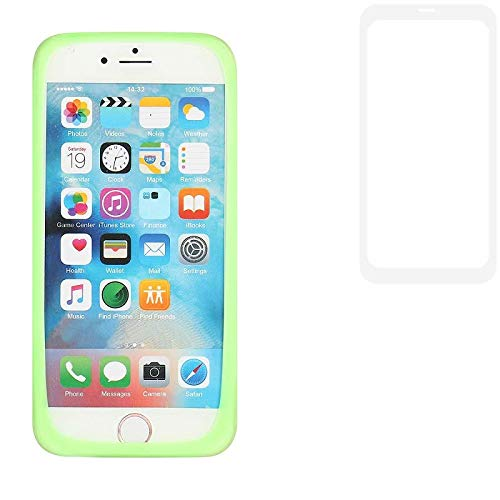 K-S-Trade Für Vestel V3 5580 Dual-SIM Silikonbumper/Bumper aus TPU, Grün Schutzrahmen Schutzring Smartphone Case Hülle Schutzhülle für Vestel V3 5580 Dual-SIM