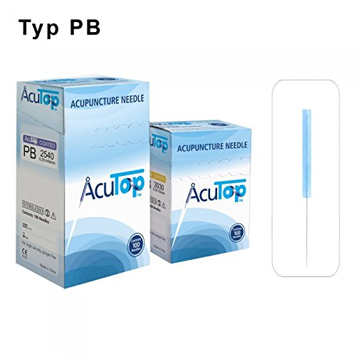 AcuTop Akupunkturnadeln, Kunststoffgriff, Typ PB 0,20 x 15 mm (100 St.)
