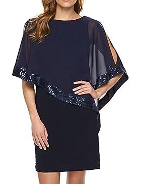 Verano Mujer Lentejuelas Costura Lápiz Bodycon Vestido Atractivo Apretado Corto Vestidos de Partido Coctel Capas...