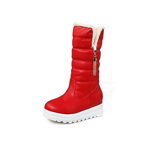 A&N , Damen Schneestiefel , rot - rot - Größe: 34