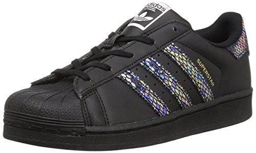 adidas Superstar C - Glatt Unisex Kinder, Schwarz - Cschwarz/cschwarz/cschwarz - Größe: 28 M EU Niño Pequeño
