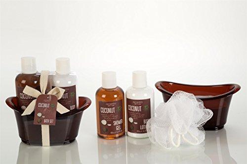 Badeset COCONUT in Badewanne – mit Duschgel und Body Lotion GESCHENKSET