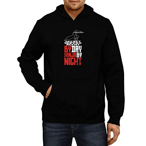 Idakoos Secret Service Agent by Day Ninja by Night Kapuzenpullover M - Agent Hooded Sweatshirt