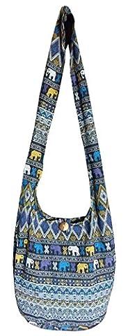 Hippie Bags Ladies Medium Hobo Boho Aztec Elephant Hippy Festival