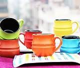 #9: Ceramic Medium kullad shaped Tea Cups Multicolor (Set of 6)