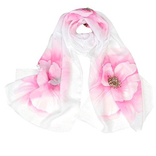 Bufandas para Mujer,Xinan Collar Leopardo Abrigo Mantón Pañuelo Gasa (Rosa)