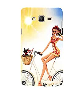 Cool Girl Cycling 3D Hard Polycarbonate Designer Back Case Cover for Samsung Galaxy On5 Pro (2016) :: Samsung On 5 Pro
