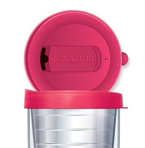 Signature Tumbler Travel Tumbler Cup Zwei Position Schließung Deckel (Traveler–16oz, Pink) von Signature (Rosa 16 Ounce Tumbler)