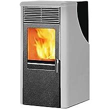 Estufa de pellets 8.2 kW de acero calefacción 215 mc casa Dotty2 blanca