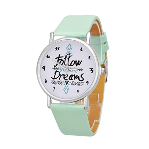 familizo-women-alphabet-pattern-pu-leather-wrist-watch-mint-green