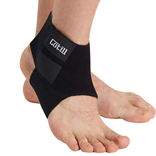 Cotill Supporto caviglia per uomini e donne - Tutore contro distorsioni in neoprene traspirante e regolabile per la corsa, palla canestro (taglia unica)
