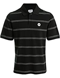 Converse Dual Stripe Polo Black