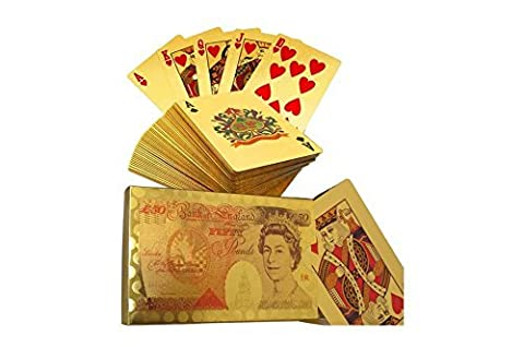 £50 Edition 24K Gold Plated Playing Cards