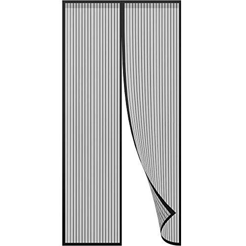 Mosquitera para puerta Protección contra insectos magnético 100 * 210 CM, Cortina mosquitera magnética para puertas, con malla super fina para dejar pasar el aire fresco, y cierre magnético que se cierra automáticamente para dejar a los insectos fuera