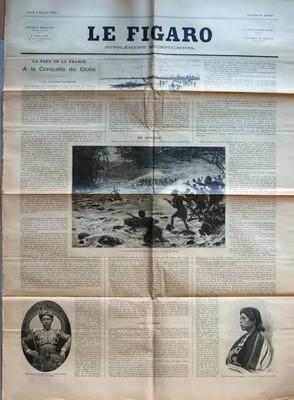 FIGARO SUPPLEMENT LITTERAIRE (LE) du 02-02-1891 LA PART DE LA FRANCE A LA CONQUETE DU GLOBE - LES APTITUDES FRANCAISES - EN AFRIQUE - CHASSE A L'HOMM