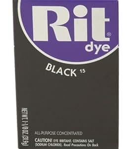 Rit Dye Rit - Teinture en poudre pour tissu - Noire - 31,8 g