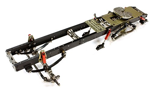 Integy-Hobby-RC-Model-C25745GUN-Ladder-Frame-Chassis-Assembly-w-Front-Axle-for-Custom-114-Semi-Tractor-Truck